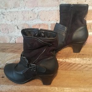 Bumper Belle Mix Media Ankle Strap Boot - Size 9
